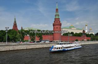 Речная прогулка на теплоходе в Москве для групп с программой на выбор и питанием