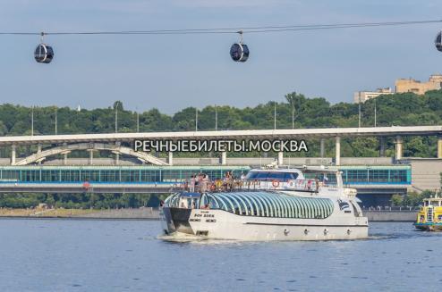 Прогулка по Москве на яхте Рэдиссон (ЦПКиО им. Горького)