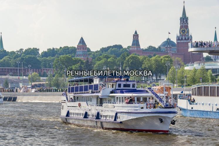 Прогулка на теплоходе по Москве-реке от Новоспасского или Крымского моста с отправлением каждые 30 минут